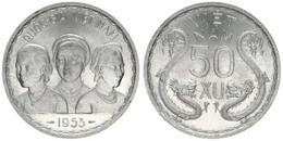 Vietnam - South, Democratic State, 50 Xu Aluminum 1953 Three Busts And Dragons, KM 3, UNC - Vietnam