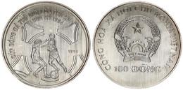 Vietnam, Socialist Republic, 100 Dong Silver 1991 World Cup Soccer, KM 34, UNC - Vietnam
