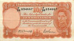 Australia, Commonwealth, Banknote 10 Shillings ND (1939-1952) King George VI, P 25b, VF - 1938-52