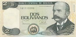Bolivia, Republic, Banknote 2 Bolivianos 1986 Vaca Diez At Right, P 202b, UNC - Bolivia