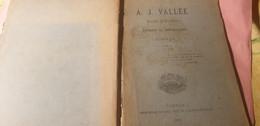 A.J .VALLEE RECTEUR DE PLOUHINEC PENDANT LA REVOLUTION  1786 1798 - 1901-1940