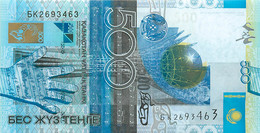 Kazakhstan, Republic, Banknote 500 Tenge 2006 Tower With Globe At Center, P 29a, UNC - Kasachstan