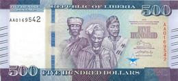 Liberia, Republic, Banknote 500 Dollars 2016 Three Men At Center, P 36a, UNC - Liberia