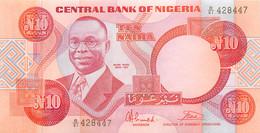 Nigeria, Republic, Banknote 10 Naira ND (1984-2005) A. Ikoku At Left, P 25b, UNC - Uruguay