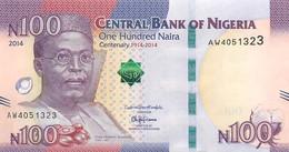 Nigeria, Republic, Banknote 100 Naira 2014 Chief Obafemi Awolowo, P 41, UNC - Uruguay