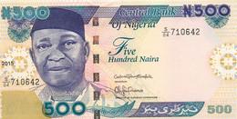 Nigeria, Republic, Banknote 500 Naira 2015 Nnamdi Azikiwe At Left, P 30n, UNC - Uruguay