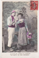 D3226 FANTAISIE COUPLE - SCENE CAMPAGNARDE - DEVANT LE PUITS, PRES DU MOULIN A VENT - B.C.I. SERIE N°571 - Koppels