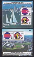 New Zealand 1990 Commonwealth Games Souvenir Sheets (2) MNH - Blocs-feuillets