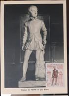MONACO-CARTE MAXIMUM Statue De Henri IV Par Bosio - Maximumkarten (MC)