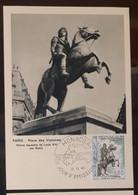 MONACO-CARTE MAXIMUM Statue Equestre De Louis XIV  Par Bosio- Paris Place Des Victoires, 1968 - Maximumkarten (MC)