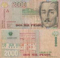 Colombia / 2.000 Pesos / 2007 / P-457(f) / VF - Colombia