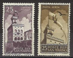 1945 SAN MARINO - Palazzo Del Governo 2 Valori Nuovi** (616) - Unused Stamps