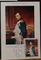 MONACO-CARTE MAXIMUM Collections De Souvenirs Napoléoniens De S.A.S Prince Rainier III - Maximumkarten (MC)