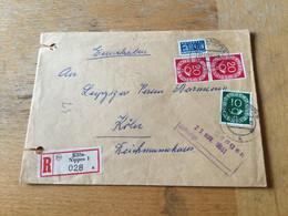 K14 BRD 1951 Orts-R-Brief Von Köln-Nippes - Storia Postale
