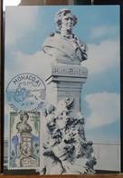 MONACO-CARTE MAXIMUM Buste De BERLIOZ, Photo Detaille Monte Carlo - Maximumkarten (MC)