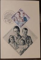 MONACO-CARTE MAXIMUM Gravure Princesse Grace Et Enfants Février 1965 - Maximumkarten (MC)