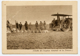 Colonies Françaises Tunisie.cliché De L'Agence Générale De La Tunisie.labourage Par Tracteur Titan.charrue à Disques. - Altri