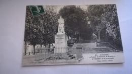 CPA CIRCULEE EN 1909 - GISORS LA STATUE DU GENERAL DE BLANMONT ET L'ESCALIER DE LA PROMENADE - Gisors