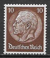GERMANIA  TERZO REICH 1932-33  EFFIGE DEL MARESCIALLO HINDENBURG UNIF. 447 MNH XF - Neufs