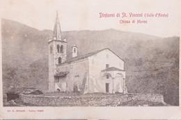 Cartolina - Dintorni Di St. Vincent ( Valle D'Aosta ) - Chiesa Di Moron 1900 Ca. - Unclassified