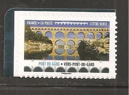 France, Autoadhésif, Adhésif, 1466, Neuf **, TTB, Ponts Et Viaducs, Pont Du Gard - Adhesive Stamps