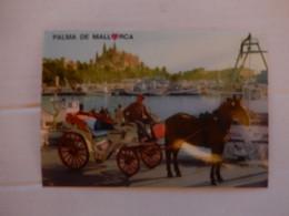 Cheval Et Caleche A Palma De Mallorca ' écrite Et 2 Timbres Neuf 30 Pta&5pta - Paarden