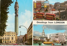 England & Circulated,  Greetings From London, Multi, Lisboa 1973 (9688) - Gruss Aus.../ Gruesse Aus...