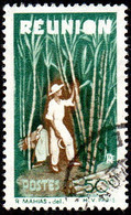 Réunion Obl. N° 265 - Détail De La Série émise En 1947 - 50c Vert Et Brun - Usados