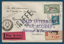France Indochine Vol Costes Et Bellonte Accidenté. - 1927-1959 Briefe & Dokumente