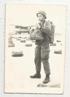 Photographie ENA , Pau , Militaria ,avion ,militaire , Parachutiste, 130 X 90 Mm - Guerre, Militaire