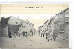 SAINT MASMES    LA RUE MAI  GROUPE PERSONNAGES   CYCLISTE     DEPT 51 - Other Municipalities