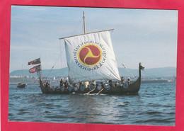 Modern Post Card Of Odin`s Raven,Viking Longship,Peel,Isle Of Man,A129. - Isola Di Man (dell'uomo)