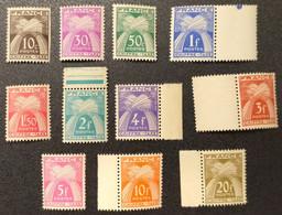 Taxe N° 67 à 77 Neuf ** Gomme D'Origine  TTB - 1859-1955 Postfris