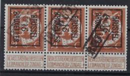 BELGIË - PREO - 1913 - Nr 41 B - BRUSSEL 13 BRUXELLES In Strip Van 3 Met REBUT ; Staat Zie Scan ! - Typos 1912-14 (Lion)