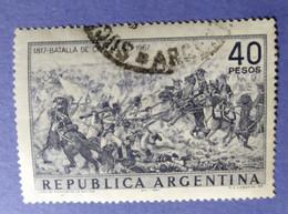 1967  -  REPUBBLICA  ARGENTINA   -   VALORE  40 Pesos   - USATO - Corrientes (1856-1880)