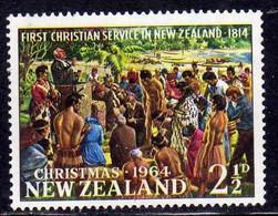 NEW ZEALAND NUOVA ZELANDA 1964 CHRISTMAS NATALE NOEL WIEHNACHTEN NAVIDAD NATAL 2 1/2c MNH - Unused Stamps