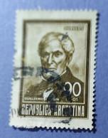 -  REPUBBLICA  ARGENTINA   -   VALORE  90  Pesos   - USATO - Corrientes (1856-1880)