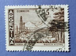 -    ARGENTINA   -   VALORE  5  Pesos   - USATO - Corrientes (1856-1880)