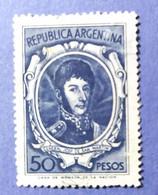-    REPUBBLICA  ARGENTINA   -   VALORE  50  Pesos   - USATO - Corrientes (1856-1880)