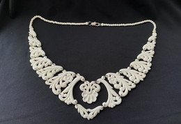 Vintage Bone Necklace. Natural Bone, Carving. Northern Art Of Russia. USSR. 1970-1980 - Necklaces/Chains