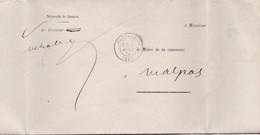 25 – PONTARLIER – Pli En Franchise (Procureur Pour Le Maire De Malpas) 1875. - 1849-1876: Periodo Classico