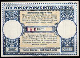 USA Lo16u Handstamp Violet 12x5mm 15¢ /13 CENTSInternational Reply Coupon Reponse Antwortschein IAS IRC Mint ** - Altri
