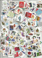 Kiloware USA Lot # 1000 Pcs Assorted SMALL SIZE Adhesives Stamps On Paper - Collections