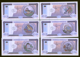 Cuba Caribbean Fauna II 2012 Set Of 6 Featuring Fishes And Birds On Coins. UNC - Cuba