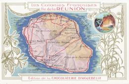 CPA - Carte De L'île - Edition De La Chocolaterie D'Aiguebelle - Non Classés