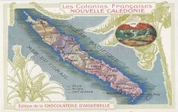 CPA - Carte De L'île - Edition De La Chocolaterie D'Aiguebelle - Nouvelle Calédonie