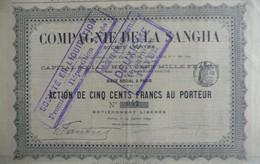 S.A. Cie De La Sangha - Act.de 500 Fr.au Porteur (1899) - Afrika