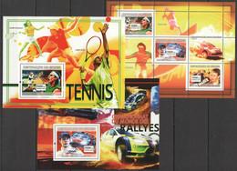 SS956 2007 DE GUINEE SPORT TENNIS NADAL RALLY LOEB SKATEBOARD HAWK 1KB+2BL MNH - Altri