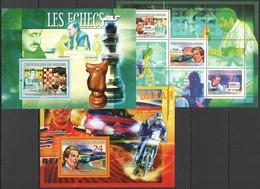 SS958 2007 DE GUINEE SPORT ICE HOCKEY CHESS RALLY DAKAR 1KB+2BL MNH - Other