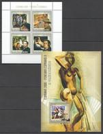 Z500 2006 S.TOME E PRINCIPE ART ESPANHA 2006 PINTURA ESPANHOLA 1KB+1BL MNH - Picasso